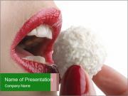 Woman Eats Raffaello PowerPoint Templates