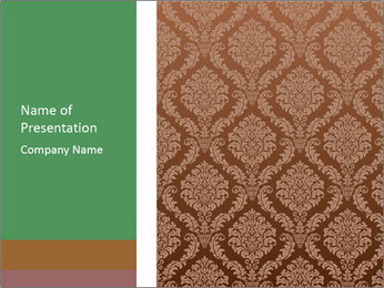 Brown Retro Wallpaper PowerPoint Template