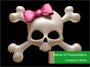 Girlish Skull PowerPoint Template