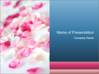 Pink Rose Petals in Bed PowerPoint Template