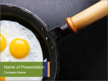 Cook Fried Eggs for Breakfast PowerPoint Template