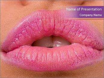 Pink Lip Gloss PowerPoint Template