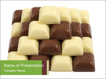 Bars of Black and White Chocolate PowerPoint Template