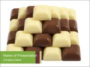 Bars of Black and White Chocolate PowerPoint Templates