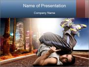 Breakdancer on the Road PowerPoint Templates