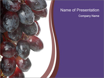 Eat Grapes for Breakfast PowerPoint Template