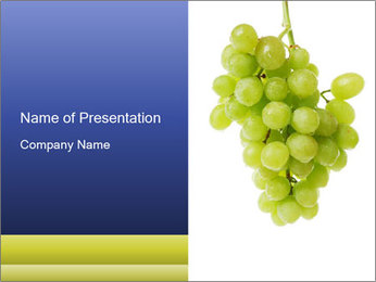 Sweet Organic Grapes PowerPoint Template