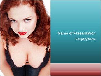Seductive Woman PowerPoint Template