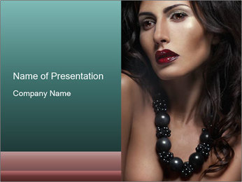 Woman in Black Bids PowerPoint Template