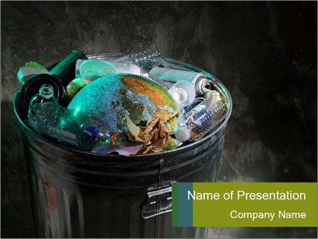 Garbage powerpoint template smiletemplates globus in garbage bin powerpoint templates toneelgroepblik