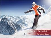Alps Ski Tour PowerPoint Templates