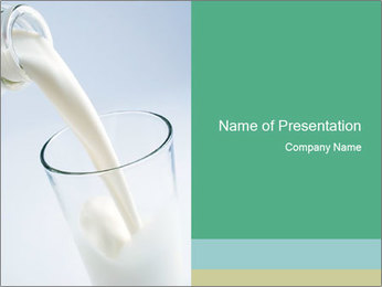 Glass of Fresh Milk PowerPoint Template