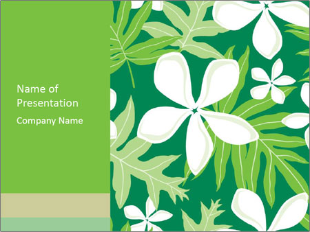 hawaii pattern powerpoint template & backgrounds id 0000011852, Modern powerpoint