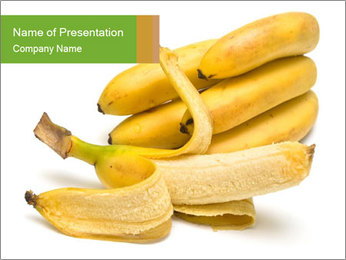Pilled Banana PowerPoint Template