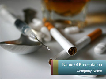 Types of Drug Addiction PowerPoint Template