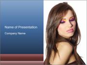 Lady with Bright Makeup PowerPoint Templates