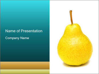 Yellow Pear PowerPoint Template