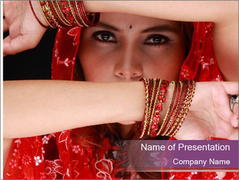 Indian Woman PowerPoint Template
