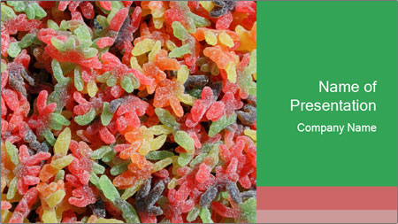 Colored Sugar Candy PowerPoint Template