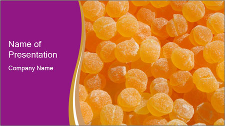 Yellow Sugar Candy PowerPoint Template