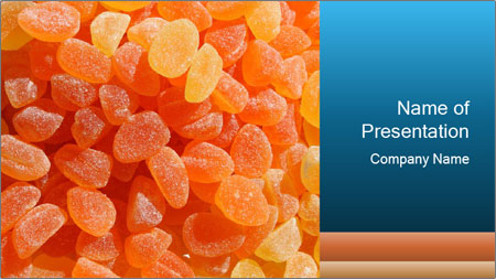 Orange Candy PowerPoint Template