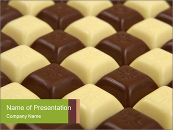 Black and White Chocolate PowerPoint Template