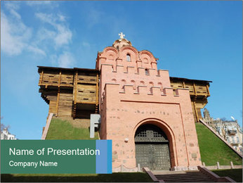 Antient Golden Gate in Kyiv PowerPoint Template