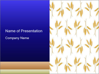 Wheat Ears Collage PowerPoint Template