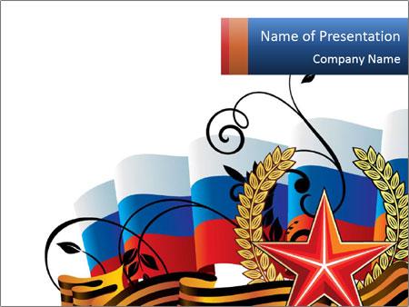 Russian victory sign powerpoint template backgrounds id 0000012099 russian victory sign powerpoint template toneelgroepblik Images