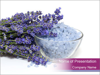 Lavender Sea Salt PowerPoint Template