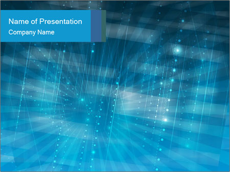 Blue Matrix Powerpoint Template Backgrounds Id 0000012125