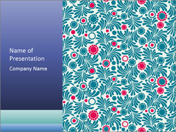 Creative Floral Pattern PowerPoint Template
