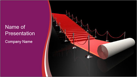 rolling up red carpet powerpoint template backgrounds google