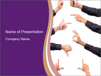 Finger Gesturing PowerPoint Template
