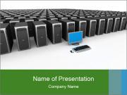 Screen And Many Servers Шаблоны презентаций PowerPoint