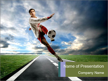 Play Socces on the Street PowerPoint Template