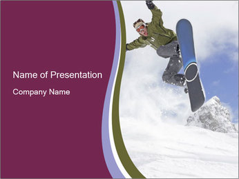 Fearless Snowboarder PowerPoint Template