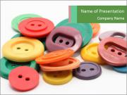 Decoration with Colored Buttons PowerPoint Templates