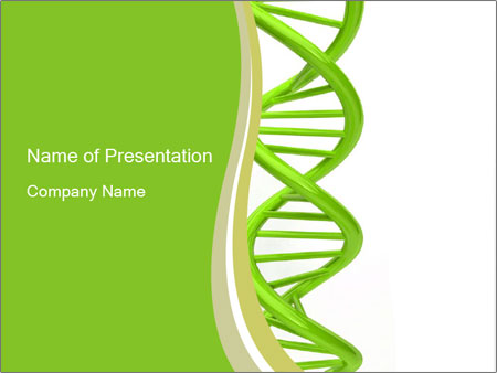 3d green dna powerpoint template backgrounds id 0000012265 3d green dna powerpoint templates toneelgroepblik Gallery