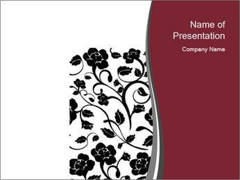 Decorative Floral Pattern Modèles des présentations  PowerPoint