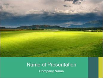 Green Field Scenery PowerPoint Template