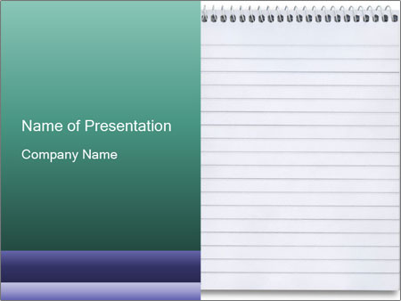 blank notebook powerpoint template & backgrounds id 0000012279, Modern powerpoint