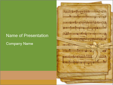 Old book with music notes powerpoint template backgrounds google old book with music notes powerpoint template toneelgroepblik Choice Image