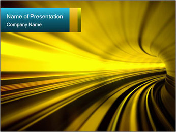 Abstract Yellow Tunnel PowerPoint Template
