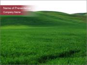 Beautiful Green Meadow PowerPoint Templates