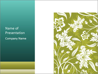Floral Design Element PowerPoint Template