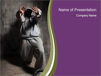 Breakdancer in Stylish Sporty Costume PowerPoint Template