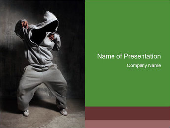 Young Breakdancer in the Studio PowerPoint Template