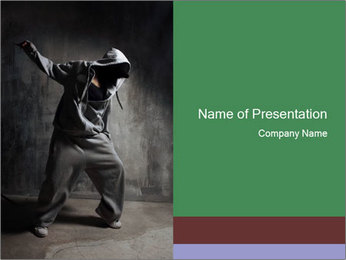 Stylish Breakdancer PowerPoint Template