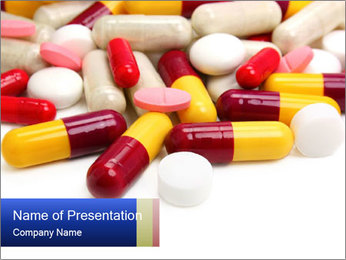 Pile of Antibiotics PowerPoint Template